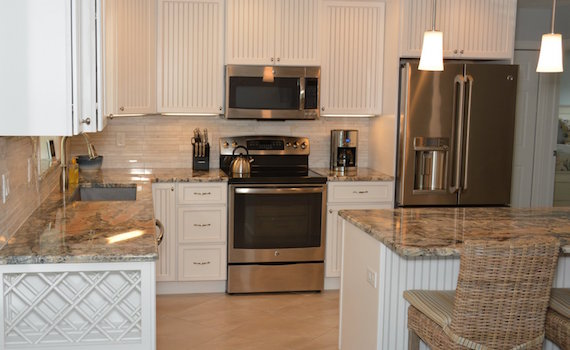 White Kitchen Cabinets and Granite Countertops